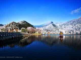唯美冬日庐山风景桌面壁纸