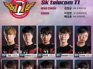 亚洲对抗赛LCK赛区SKT1战队定妆照