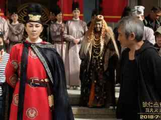 《狄仁杰之四大天王》刘嘉玲再饰女皇武则天工作照
