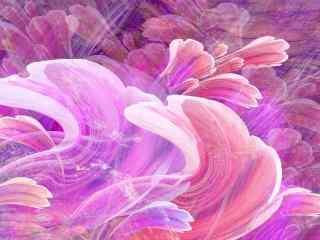 抽象手绘鲜花壁纸
