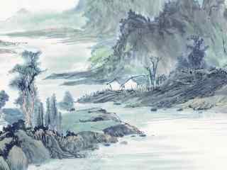 手绘国画高清壁纸