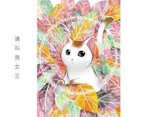猫咪女王手绘高清