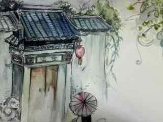 古风风景手绘图片壁纸