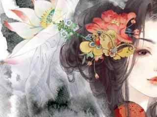唯美手绘古风美女图片壁纸