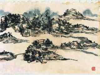 洞庭湖山水画桌面壁纸