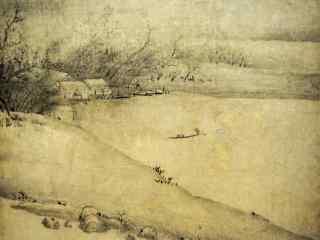好看的洞庭湖山水画壁纸