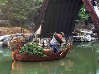 僵小鱼端午节赛龙舟桌面壁纸