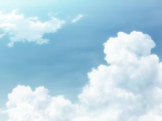唯美的动漫手绘天空图片壁纸