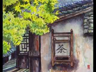 乌镇古镇小清新手绘桌面壁纸
