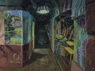 动漫意境场景之无人的房间