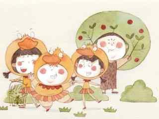 六一儿童节手绘可爱桌面壁纸