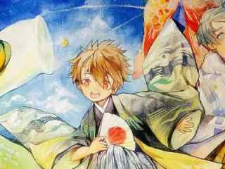 六一儿童节图片之手绘可爱小男孩图片