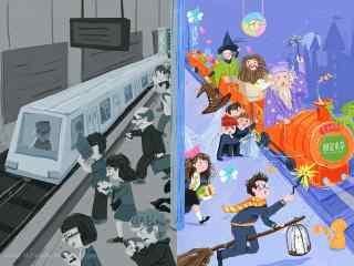 儿童节图片之不同视角看世界手绘壁纸