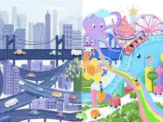儿童节之不同视角看世界桌面壁纸