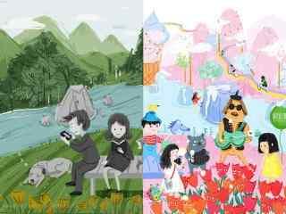 儿童节之不同视角看世界手绘壁纸