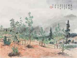 中国古风诗意水墨画桌面壁纸