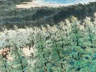 中国古风水墨画桌面壁纸