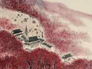 唯美的山间风景水墨画壁纸