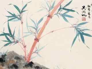 竹子水墨画桌面壁纸