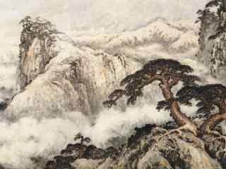 古风诗意水墨画风景壁纸
