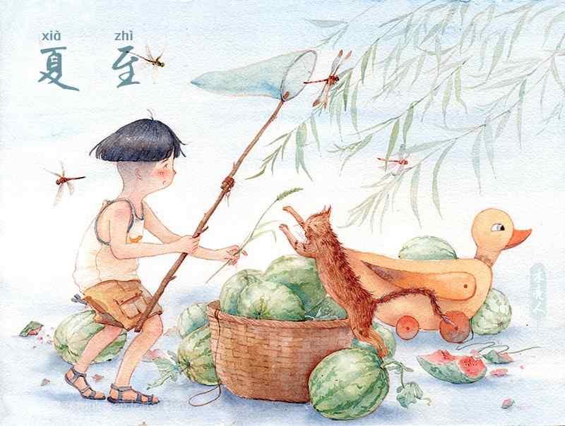 木壳人夏至手绘图片壁纸