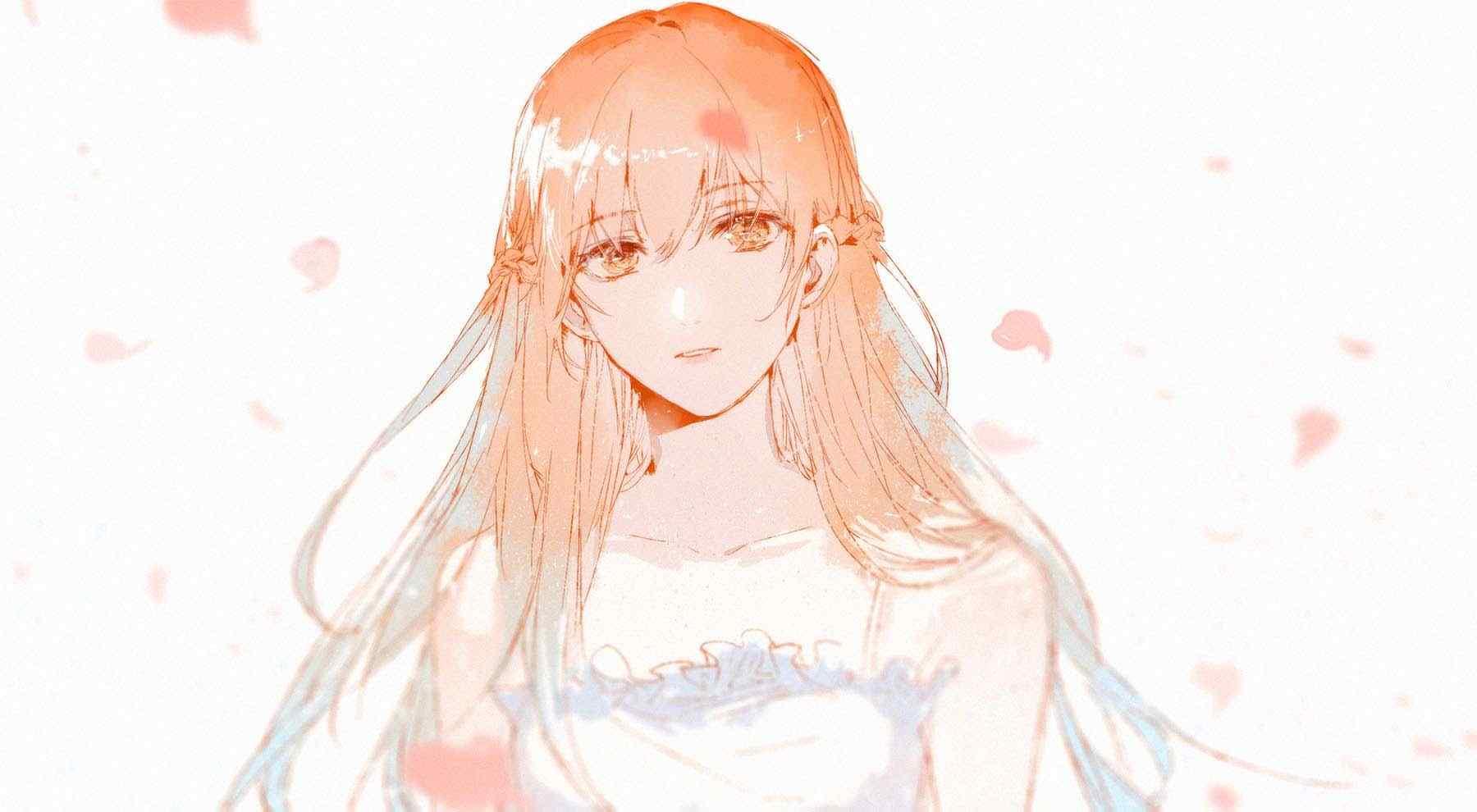 全职高手苏沐橙唯美婚纱同人图