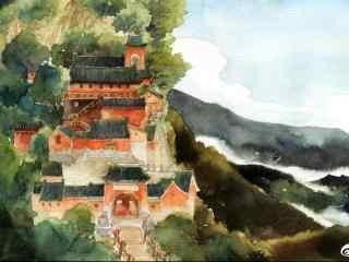 电影豆福传水彩手绘海报壁纸
