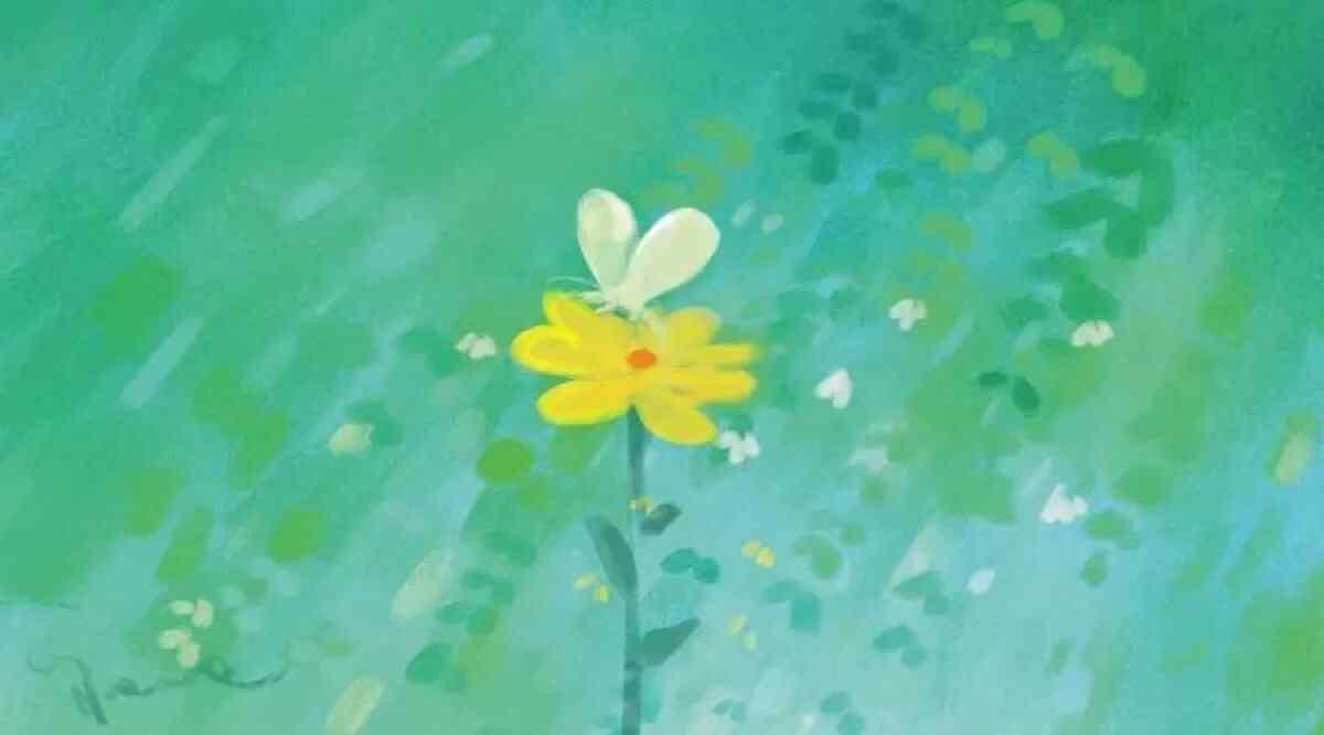 夏日清凉手绘小花朵桌面壁纸