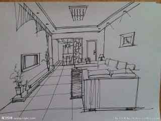 手绘室内小效果图