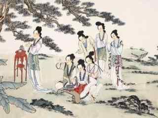 手绘七夕节桌面壁纸