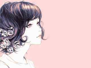 花季少女手绘美女壁纸