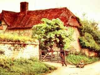 欧洲农场高清手绘