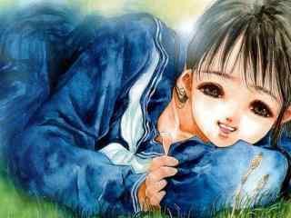 水彩少女高清手绘美女壁纸