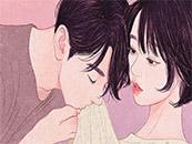 手繪(hui)情侶(lv)甜(tian)蜜愛情高清(qing)桌面(mian)壁紙