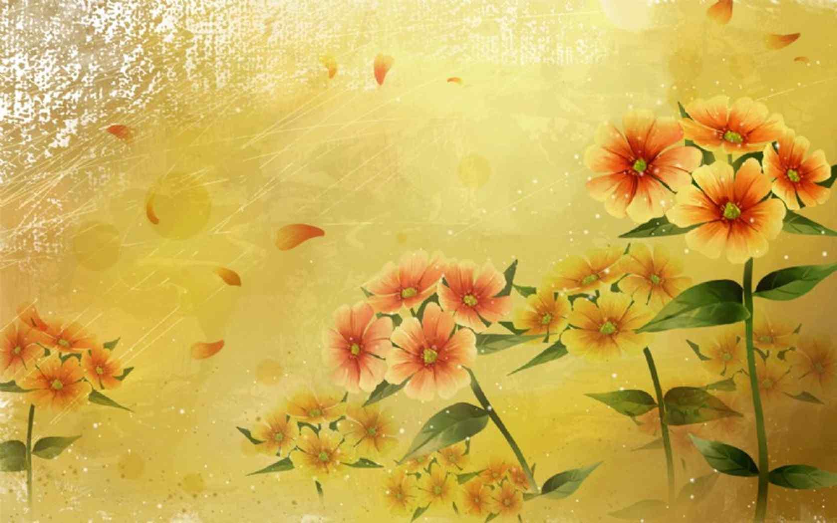 金黄风格植物壁纸