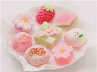 樱花食物樱花和果子桌面壁纸