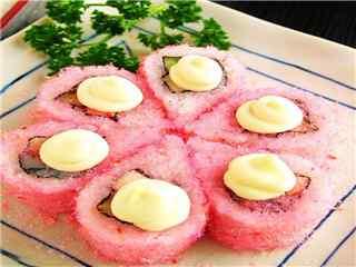 樱花食物樱花寿司桌面壁纸
