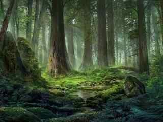 唯美小清新树林桌