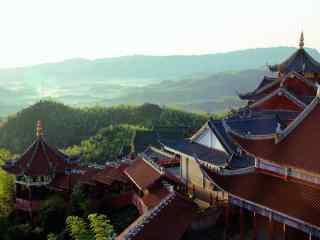 蜀南竹海壮丽的大山风景桌面壁纸