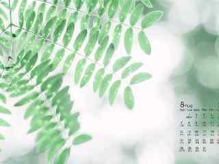 2017年8月日历小清新植物护眼壁纸