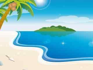 夏日里的碧海蓝天