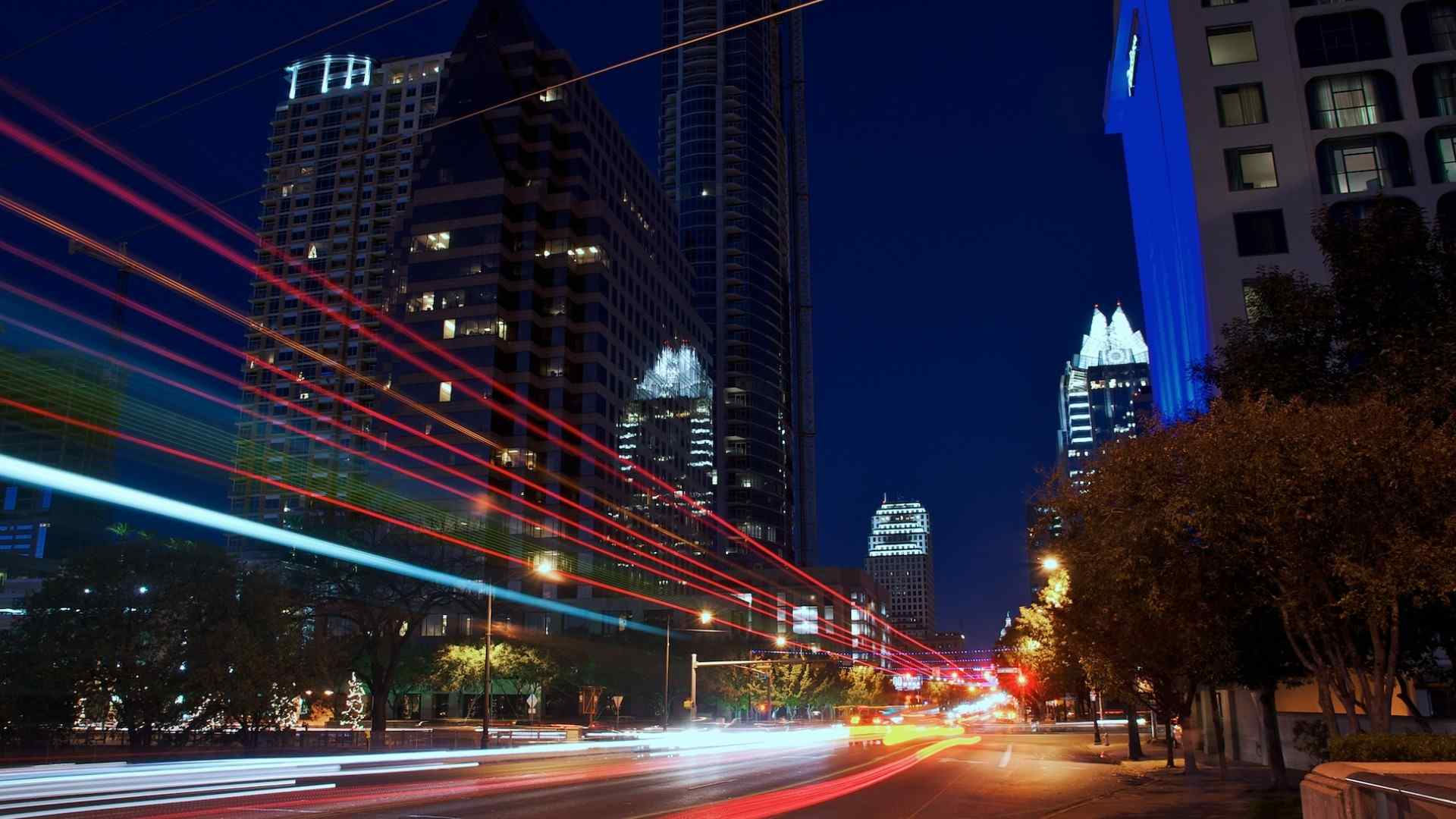 荧光都市夜景壁纸