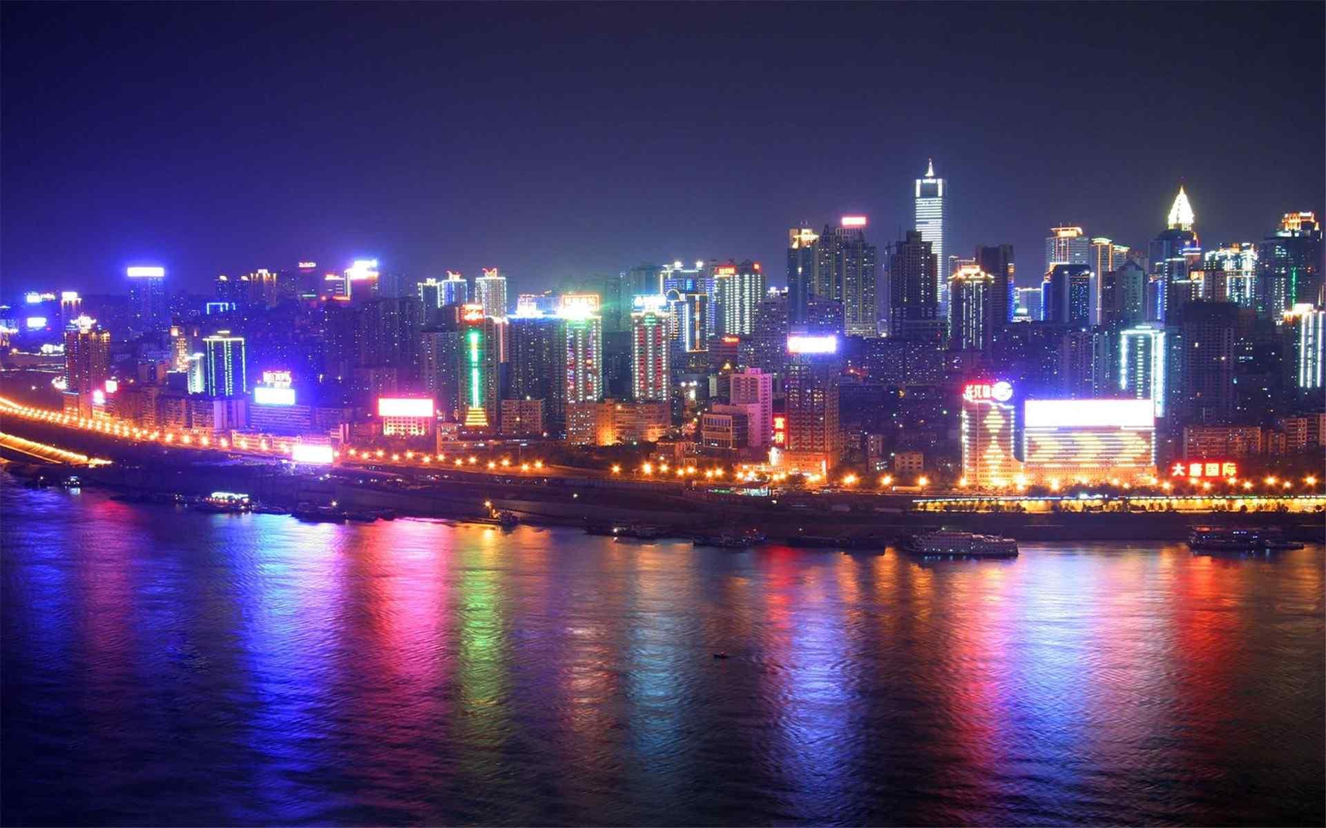 重庆江淮两岸夜景