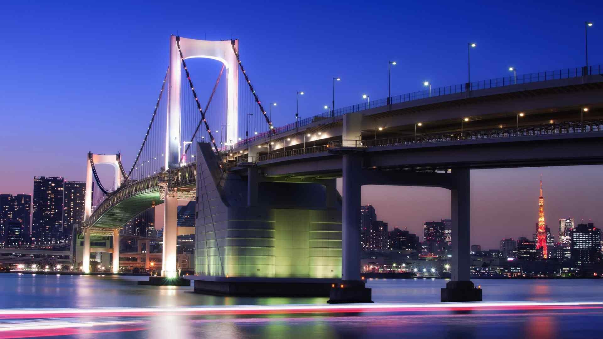 雄壮大桥夜景壁纸
