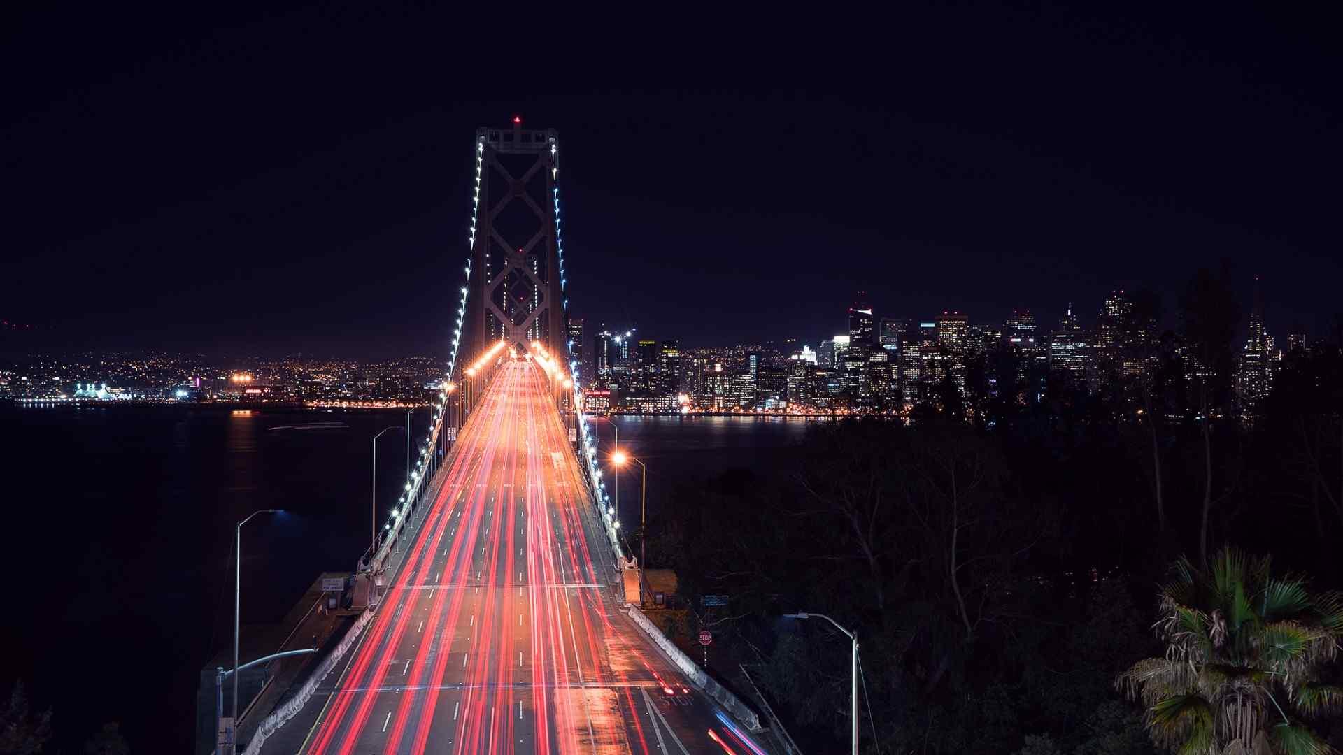 魔幻大桥夜景壁纸