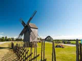 荷兰风车摄影壁纸