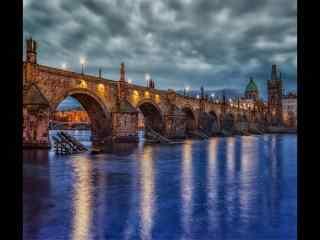 捷克布拉格石桥美景桌面下载