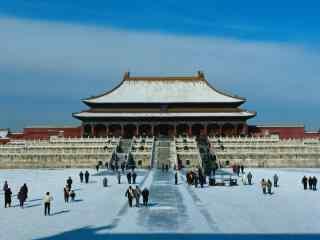 冬季北京故宫桌面