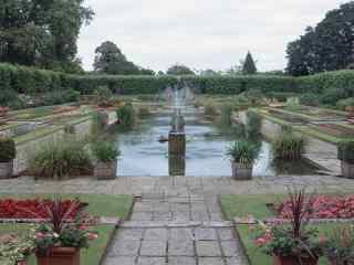 英国伦敦公园喷泉