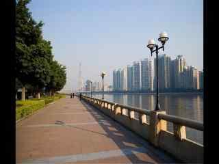 羊城广州河岸美景